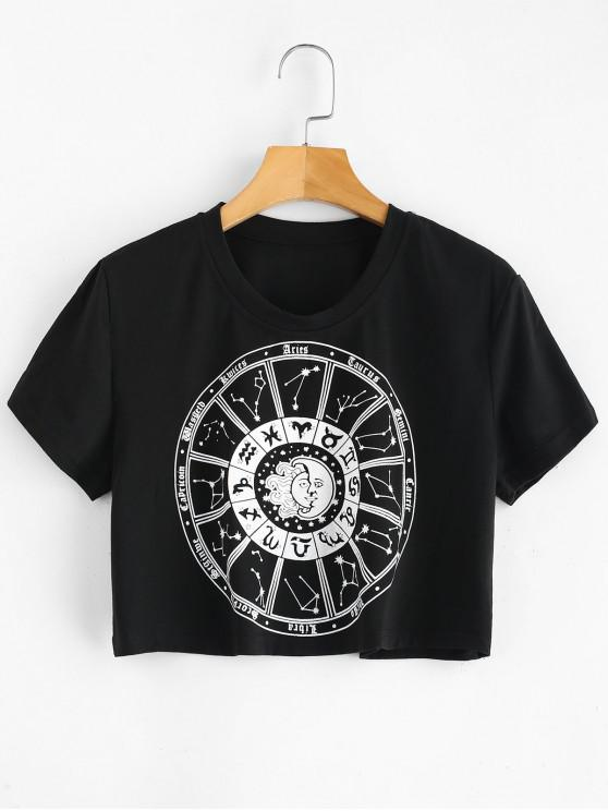 online Constellations Graphic Cropped Tee - BLACK M