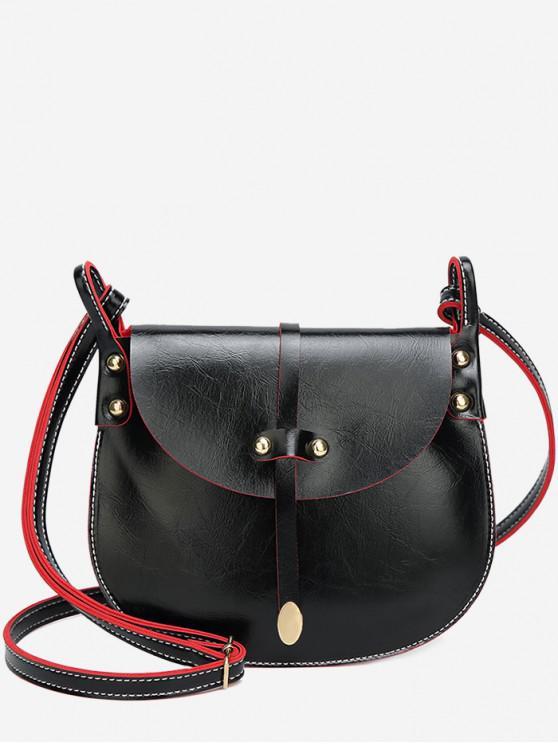 best Mini Rivets Pattern Crossbody Bag - BLACK