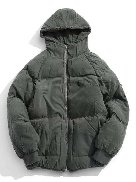 c153d0a0c4f895 33% OFF  2019 Animal Print Puffer Jacket In DARK GREEN