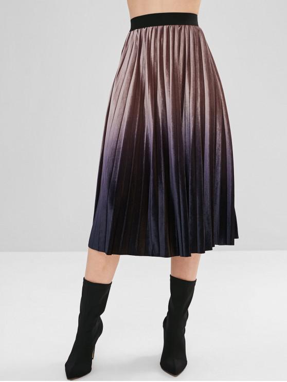 35 off 2019 jupe ombr e taille elastique dans multi zaful france