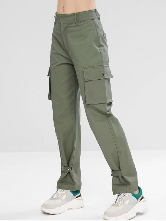 Pantaloni Casuali Sportivi Con Cerniera - Turchese Grigiastro L
