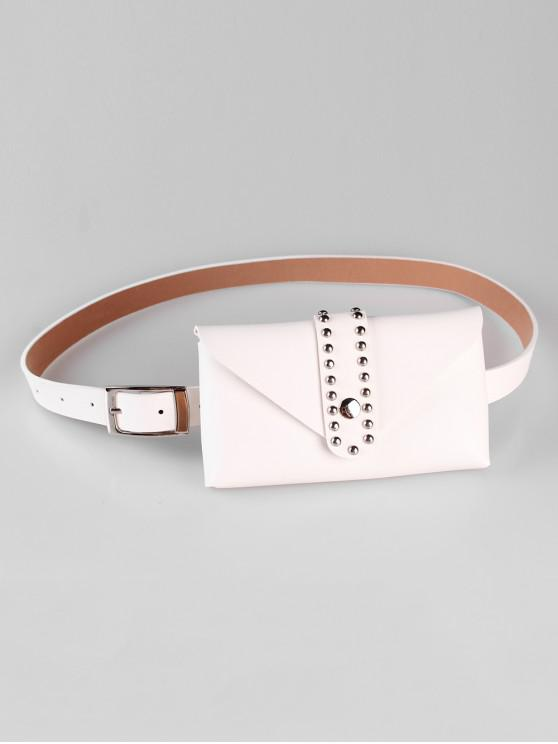 outfits Removable Fanny Pack Waist Belt Bag - WHITE