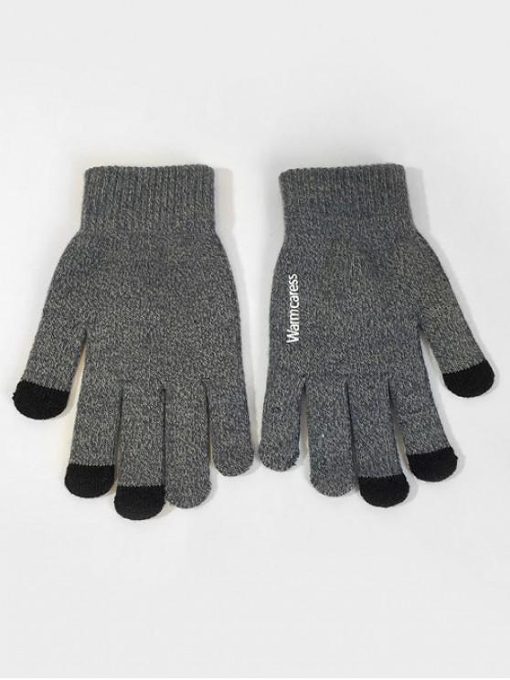 Winter Full Finger Touchscreen Gloves - Cinzento