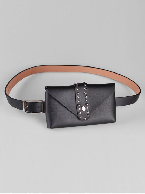 sale Removable Fanny Pack Waist Belt Bag - BLACK