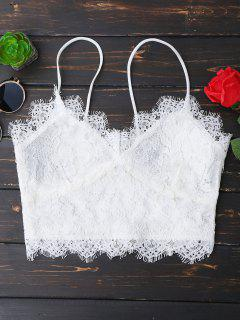Cami Scalloped Lace Tank Top - White M