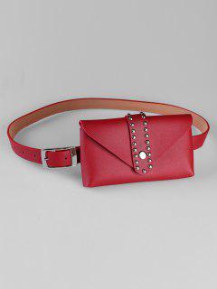 Removable Fanny Pack Waist Belt Bag - Red