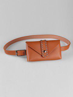 Removable Fanny Pack Waist Belt Bag - Camel Brown