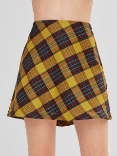 Mini Jupe Taille Haute à Carreaux - Verge D'or L