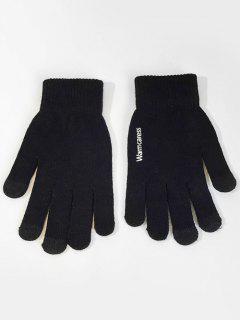 Winter Full Finger Touchscreen Gloves - Black