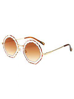 Cloud Shaped Frame Alloy Novelty Sunglasses - Brown