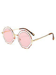 Cloud Shaped Frame Alloy Novelty Sunglasses - Pink