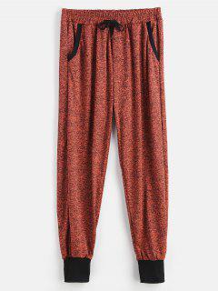 Pockets Drawstring Jogger Pants - Chestnut Xl