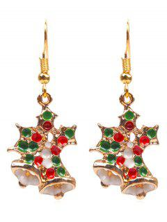 Novelty Christmas Bell Shape Earrings - Gold