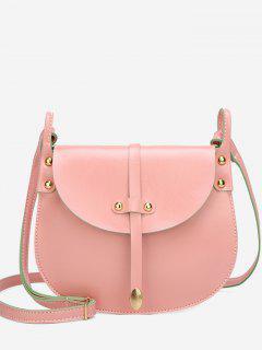 Mini Rivets Pattern Crossbody Bag - Light Pink