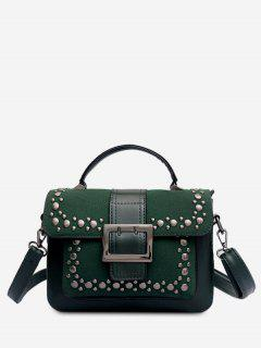 Surb Rivet Pattern Crossbody Bag - Deep Green