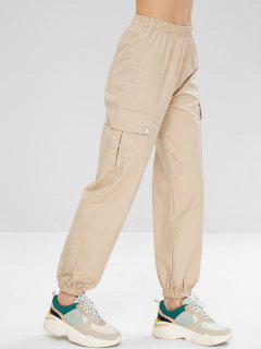 Sports Cargo Jogger Pants - Light Khaki L