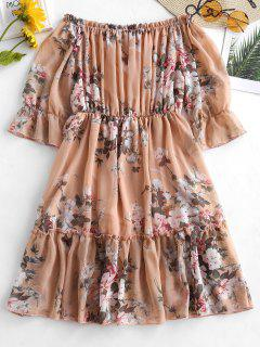 Frilled Floral Dress - Multi-a S
