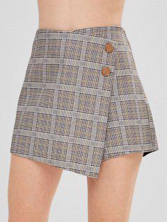 Jupe-short Taille Haute à Carreaux Glen - Multi-a M