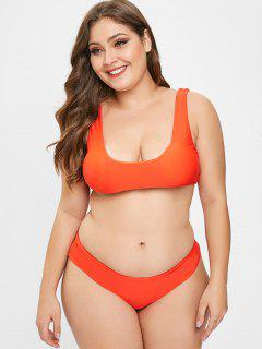 ZAFUL Ensemble De Bikini Débardeur Grande Taille - Orange Papaye 3x