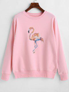 Flamingo Graphic Cute Sweatshirt - Pink Xl