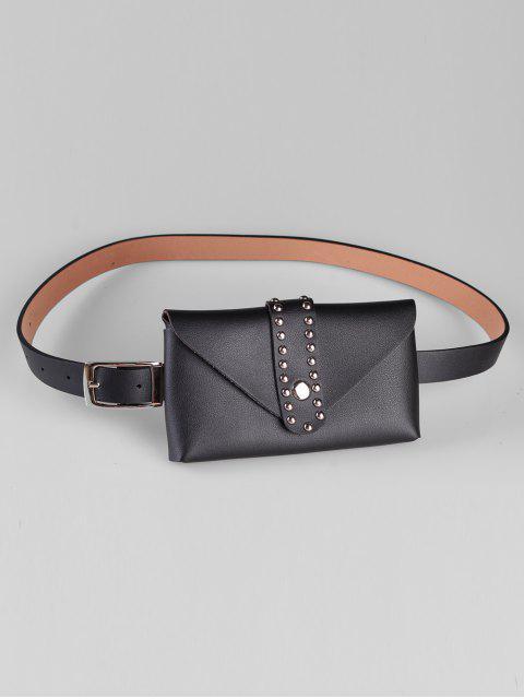 sale Removable Fanny Pack Waist Belt Bag - BLACK  Mobile