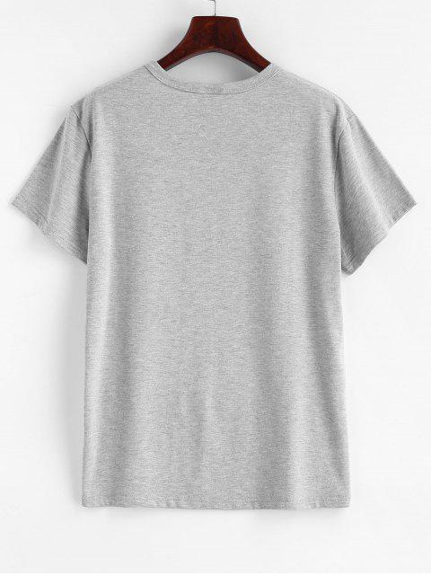 outfit Tea Graphic T-shirt - LIGHT GRAY L Mobile