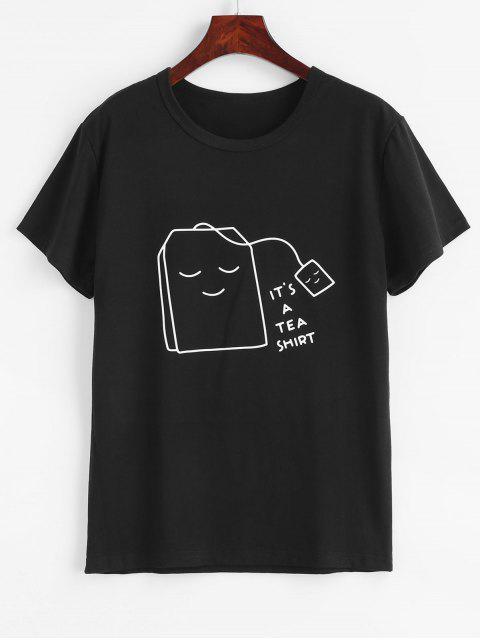 Thé graphique t-shirt - Noir S Mobile