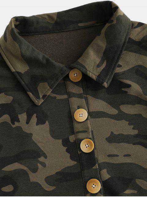 ZAFUL Button Fly Camo chaqueta corta - ACU Camuflaje L Mobile
