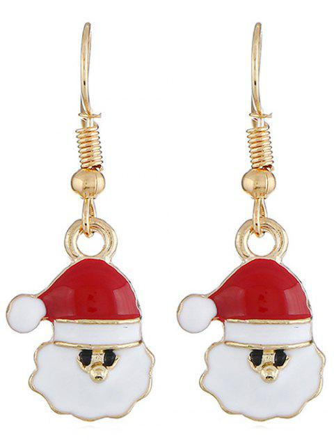 latest Santa Claus Shape Drop Earrings - GOLD  Mobile