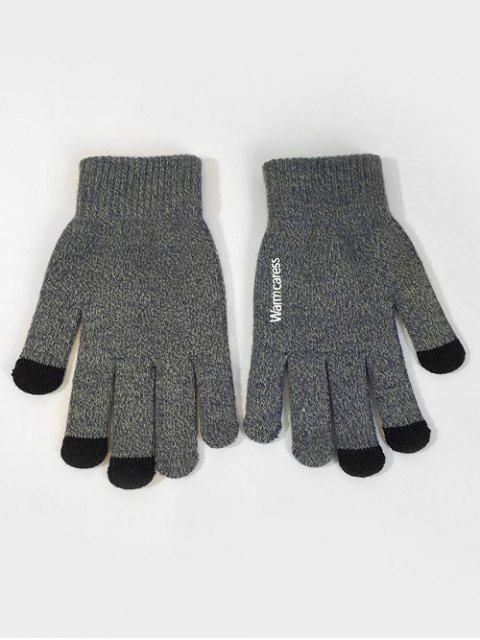 latest Winter Full Finger Touchscreen Gloves - GRAY  Mobile