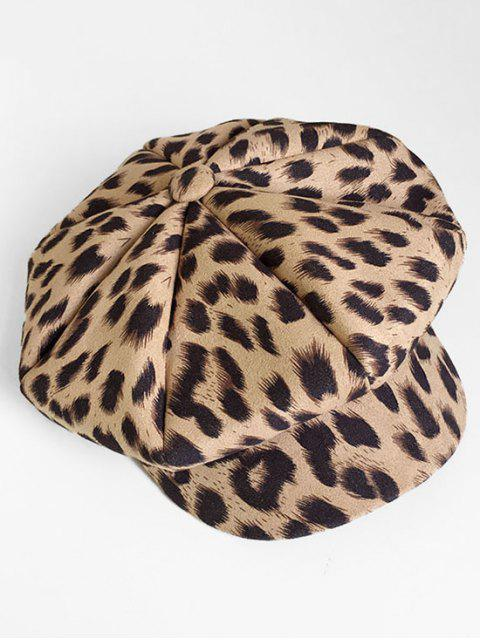 new Vintage Leopard Printing Painter Hat - BEIGE  Mobile