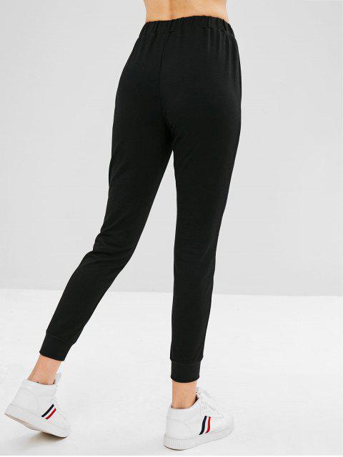 Pantalón basculador parcheado de rayas ZAFUL - Negro XL Mobile