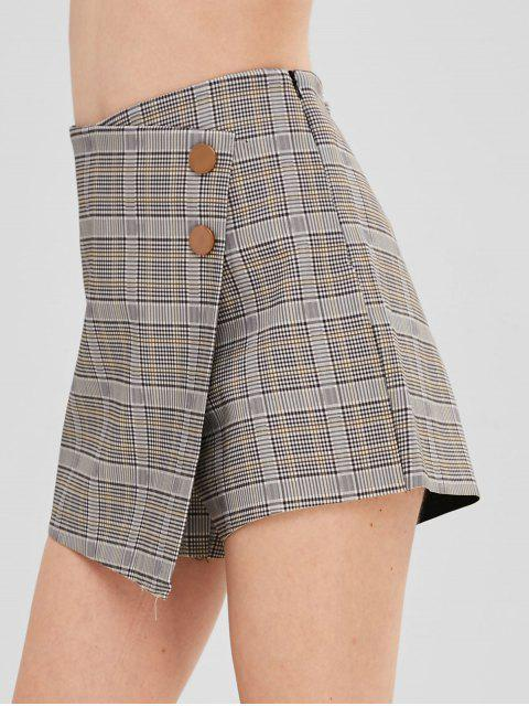 Jupe-short taille haute à carreaux Glen - Multi-A M Mobile