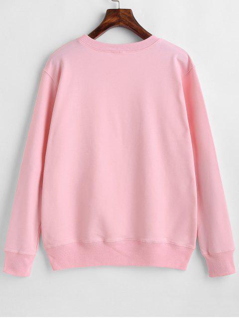 chic Flamingo Graphic Cute Sweatshirt - PINK 2XL Mobile