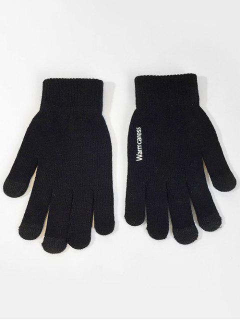 new Winter Full Finger Touchscreen Gloves - BLACK  Mobile