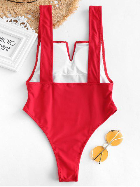 outfit ZAFUL V Wired Backless Swimsuit - LAVA RED L Mobile