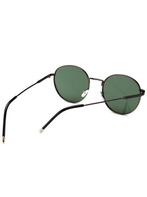 online Retro Metal Frame Round Sunglasses - DARK GREEN  Mobile