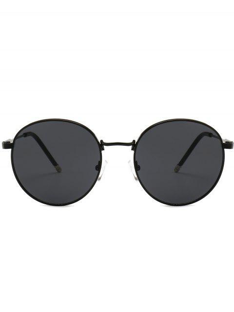 women's Retro Metal Frame Round Sunglasses - JET BLACK  Mobile