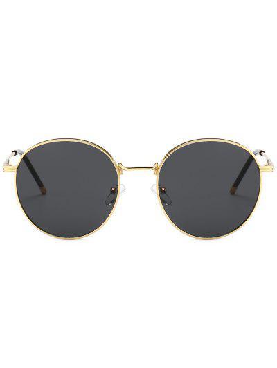 0e5f844180f6 ... Retro Metal Frame Round Sunglasses - Black