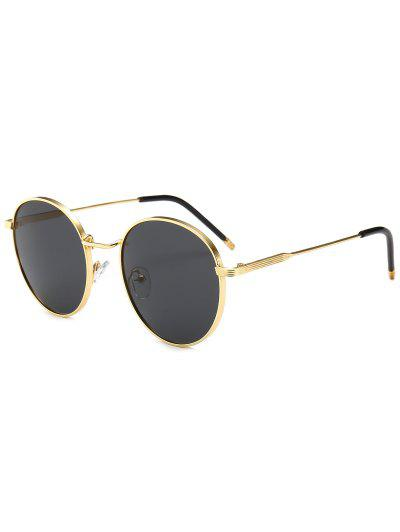 4dc867e2ff7 Retro Metal Frame Round Sunglasses - Black ...