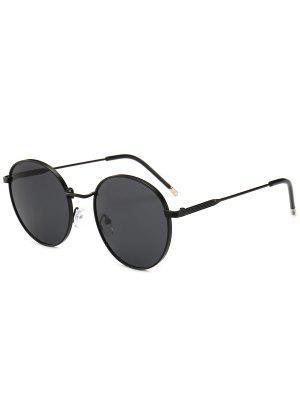 zaful Retro Metal Frame Round Sunglasses
