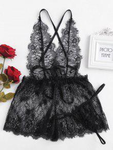عارية الذراعين الرباط شير الملابس الداخلية رومبير - أسود