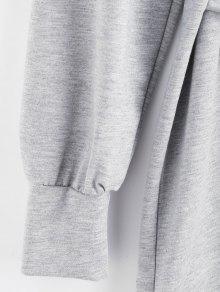 fdbf2e947f53e 28% OFF] 2019 Tie Waist Mini Sweatshirt Dress In LIGHT GRAY   ZAFUL