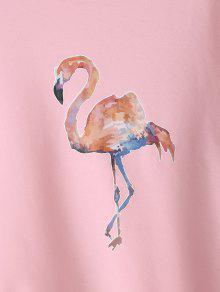 54309593d 44% OFF  2019 Camisola Bonito Gráfica Do Flamingo Com Rosa