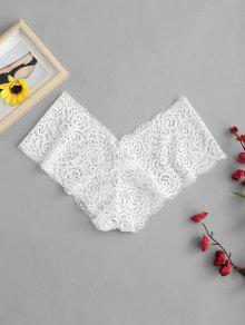 الملابس الداخلية الدانتيل سراويل شير - أبيض M