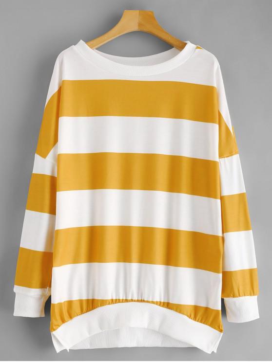 3eb4dab8 34% OFF] 2019 Oversized Drop Shoulder Stripes Sweatshirt In MULTI-B ...