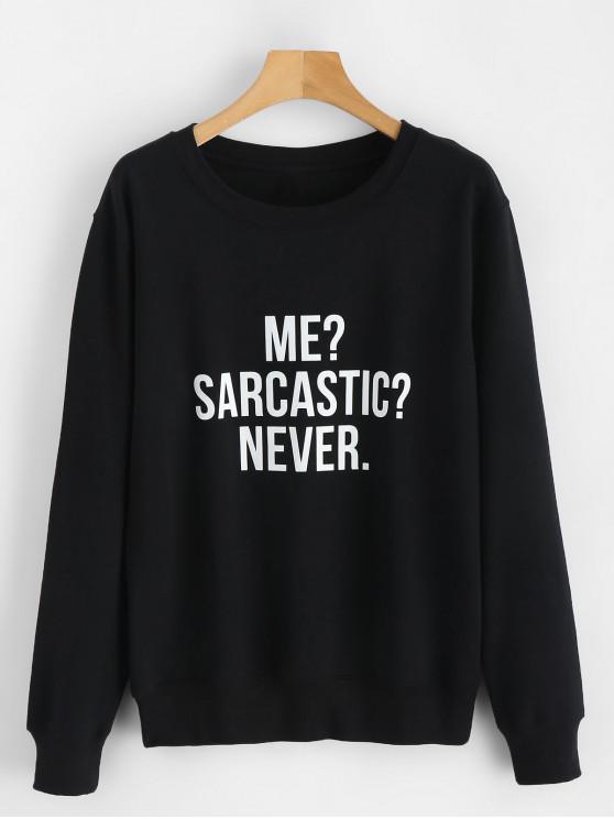 Sweat-shirt Lettre Point d'Interrogation Graphique - Noir XL