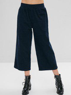 ZAFUL Wide Leg Corduroy Pants - Cadetblue S