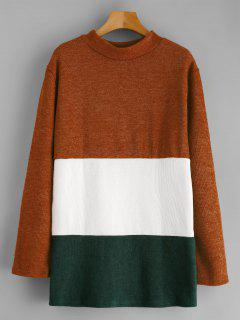 Longline Color Block Sweatshirt - Multi M