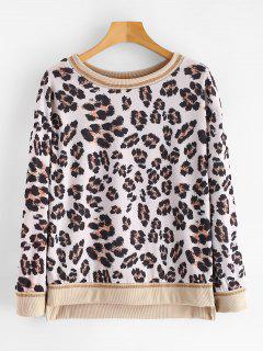 High Low Leopard Sweatshirt - Leopard Xl